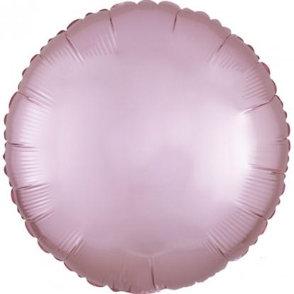 """Folinis balionas """"Rausvas apskritimas"""", matinis (43 cm)"""