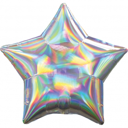 """Folinis balionas """"Sidabrinė žvaigždė"""", holografinis"""