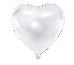 Folinis balionas-širdis, baltas (45 cm)