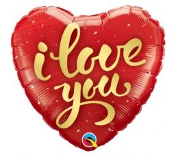 """Folinis balionas-širdis """"I love you"""" (46 cm)"""