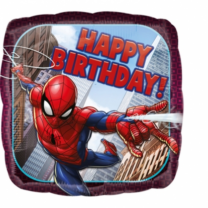 "Folinis balionas ""Spider Man-Happy birthday"""