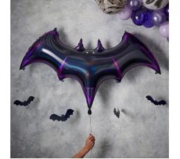 """Folinis balionas su kabančiomis dekoracijomis """"Šikšnosparnis"""" (130x80 cm)"""