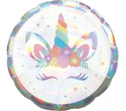 """Folinis balionas """"Unicorn baby"""", holografinis (45 cm)"""