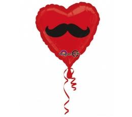 """Folinis balionas """"Ūsai""""/širdelė (43 cm.)"""