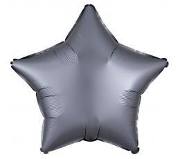 Folinis balionas-žvaigždė, grafito spalvos matinis (48 cm)