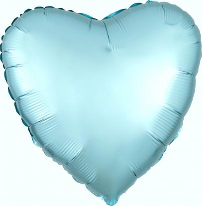 """Folinis balionas """"Žydra širdis"""", matinis (43 cm)"""