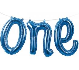 """Folinių balionų girlianda """"One"""", mėlyna"""
