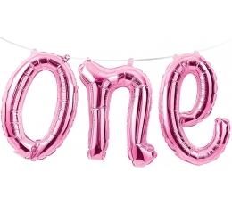 """Folinių balionų girlianda """"One"""", rožinė"""