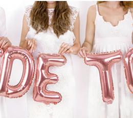 """Folinių balionų rinkinys """"Bride to be"""", rožinio aukso spalvos (35 cm) 1"""
