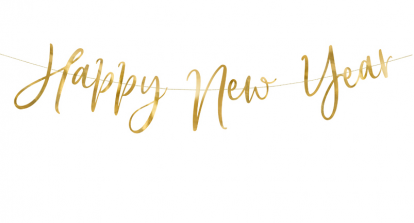 "Forminė  girlianda ""Happy New Year"" (66 x 18 cm)"
