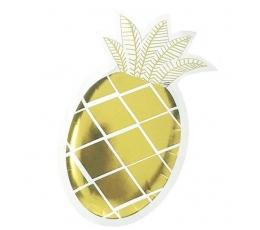"""Forminės lėkštutės """"Ananasas"""" (6 vnt./14x25 cm)"""