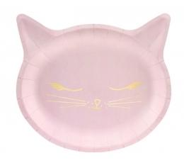 """Forminės lėkštutės """"Rožinė katytė"""" (6 vnt./20x22 cm)"""