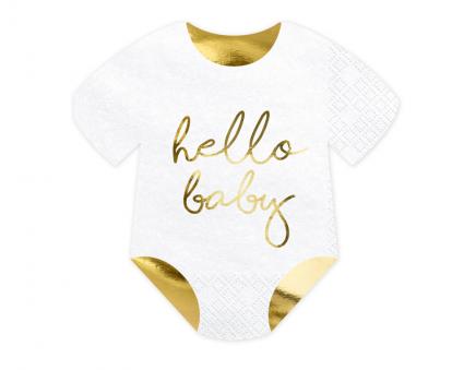 "Forminės servetėlės ""Hello Baby"" (20 vnt./15,5x16 cm)"