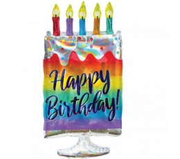 "Forminis balionas ""Birthday cake"" (38x76cm)"
