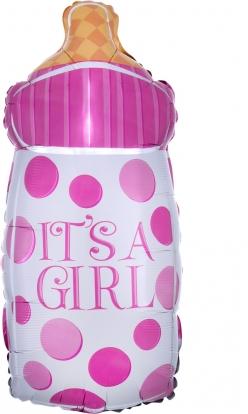 "Forminis balionas-buteliukas ""It's a girl"" (25x58 cm)"