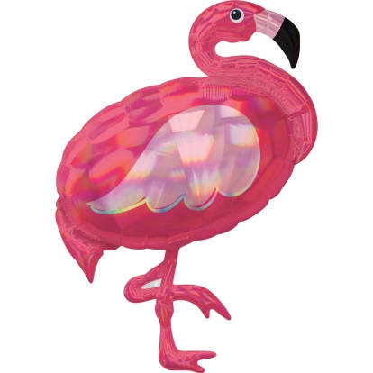 "Forminis balionas ""Flamingas"", holografinis (71x83 cm)"
