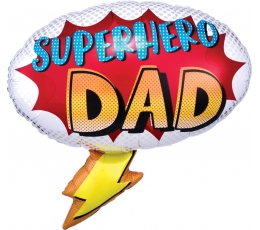 "Forminis balionas ""Superhero Dad"" (68x66 cm)"