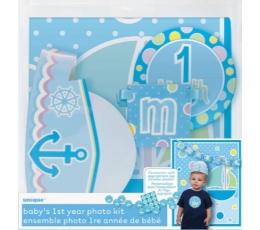 Fotosesijos rinkinys 1-ajam gimtadieniui, melsvas