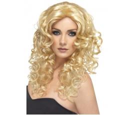 Garbanotas šviesus perukas