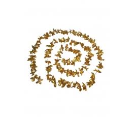 Gėlių girlianda, folinė auksinė (3,6 m)