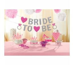"""Girlianda """"Bride to Be"""", rožinė blizgi (3,65 m)"""