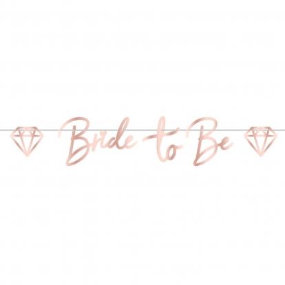 "Girlianda ""Bride to be"", vario spalvos  (1,5 m)"