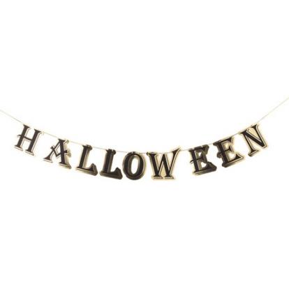 """Girlianda """"Halloween"""", auksinė-juoda (13,5cmx 3m)"""