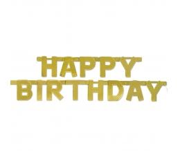 """Girlianda """"Happy Birthday"""", auksinė (1,5 m)"""