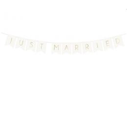 """Girlianda """"Just Married"""", balta-auksinė (1,55 m)"""