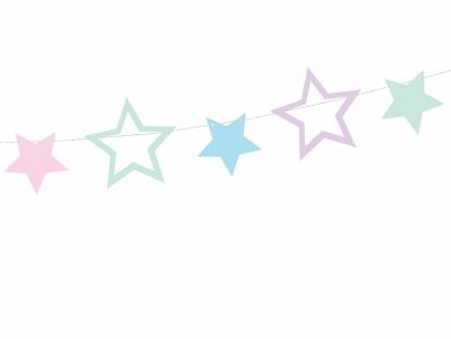 """Girlianda """"Pastelinės žvaigždės"""" (1,4 m)"""