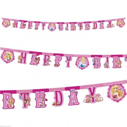 """Girlianda """"Princesės.Su gimimo diena"""""""
