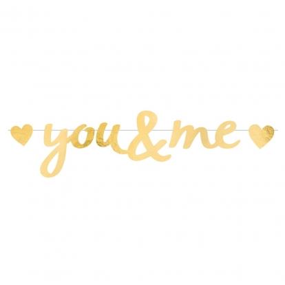 """Girlianda """"You&Me"""", auksinė (92x20 cm)"""