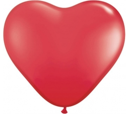 """Balionai """"Raudona širdelė"""" (10 vnt./15 cm./Q6)"""