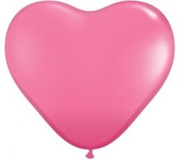 """Guminiai bal. """"Tamsiai rožinės širdelės"""" (100vnt./15cm.)"""