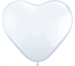 """Guminiai balionai """"Balta širdelė"""" (100vnt./15cm. Q6)"""