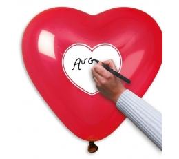 """Guminiai balionai """"Širdys su žinute"""" (10 vnt./44 cm)"""