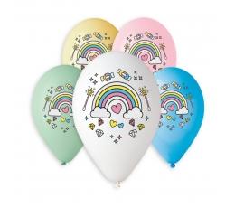 """Guminiai balionai """"Vaivorykštė"""" (10 vnt./30 cm)"""