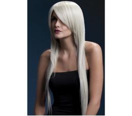 Ilgas, šviesių plaukų perukas