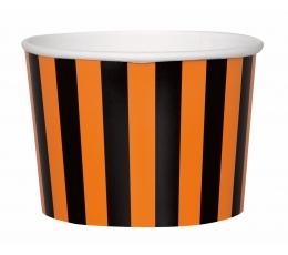 Indeliai užkandžiams, juodai oranžiniai (8 vnt.)