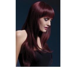 Juodai raudonas spalvos perukas (66 cm.)