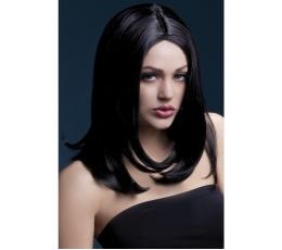 Juodų plaukų perukas (43 cm.)