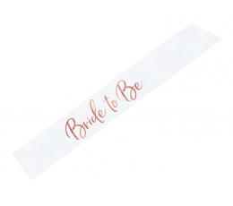"""Juosta mergavakriui """"Bride to be"""", su rožinio aukso užrašu (1vnt.)"""