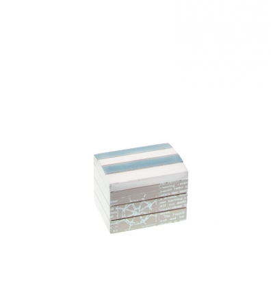 Jūrinė dėžutė, melsvai pilka (8x6x6 cm)