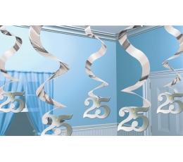 """Kabančios dekoracijos """"25"""" (5 vnt./60 cm)"""