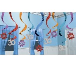 """Kabančios dekoracijos """"30"""" (15 vnt./ 60 cm)"""