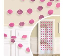 Kabančios dekoracijos, blizgios rožinės (6 vnt./2,13 m)