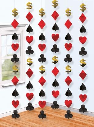 "Kabančios dekoracijos ""Casino"" (6 vnt.)"