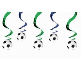 """Kabančios dekoracijos """"Futbolas"""" (5 vnt./60 cm)"""