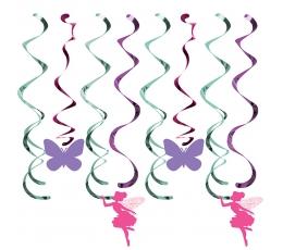 """Kabančios dekoracijos """"Gėlių fėja"""" (8 vnt.)"""