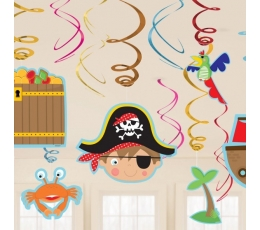 "Kabančios dekoracijos ""Mažasis piratas"" (12 vnt.)"